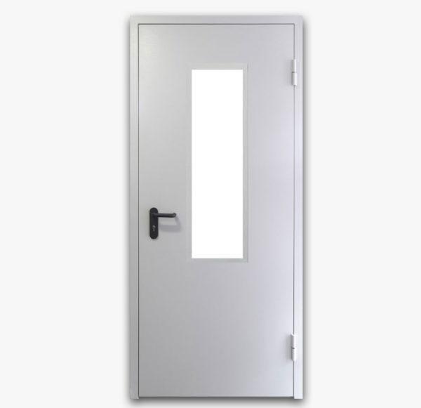 Дверь противопожарная металлическая с остеклением EI60